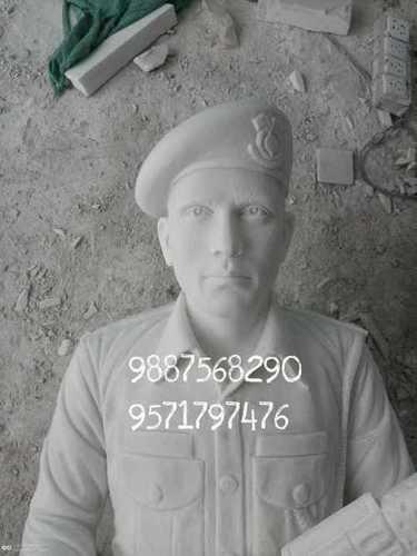 Marble Sainik Statue