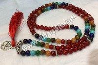 Red Carnelian seven chakra mala