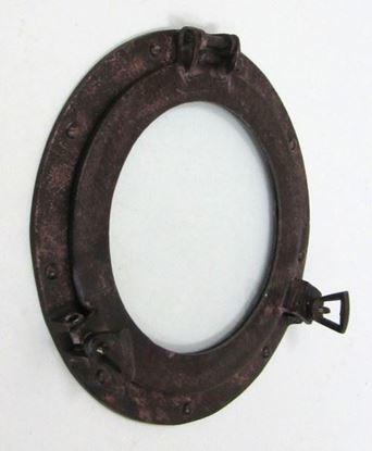 Porthole Glass Aluminum Rust 11 Inch
