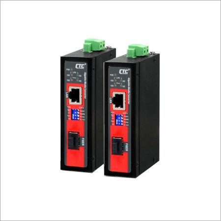 Compact Gigabit Industrial Media Converter