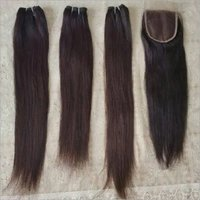 Russian  Straight Hair Extensions (Bundles And Closure)
