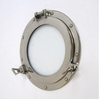 Porthole Window Glass Aluminum Chrome 11 Inch