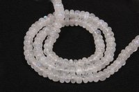 White Rainbow Roundel Beads