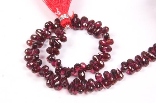 Garnet Teardrop Beads