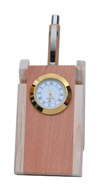wooden clock stand