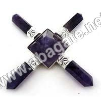 Amethyst Pencil Pyramid Energy Generator