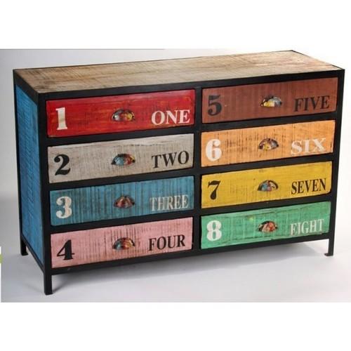 Modern Reclaimed Solid Wood Side Board