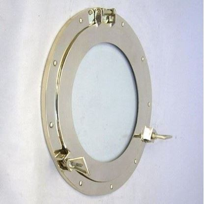 Brass Porthole Glass 15 Inch