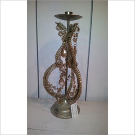 Decorative Beaded Candle Holder