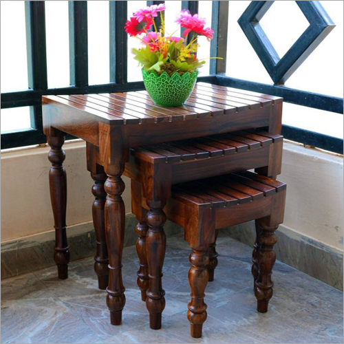 Wooden Stool Set of 3