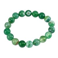 Green Agate 10mm beads Handmade Jewelry Manufacturer Stretchable Awesome Yoga Beautiful Bracelet Jaipur Rajasthan India