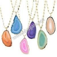 Agate Slice Pendent
