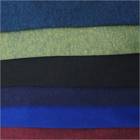 Polyester Cotton Rib Knit Fabric