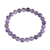 Round Beaded February Birthstone Handmade Jewelry Manufacturer Amethyst Stretchable Healing Yoga-Bracelet Jaipur Rajasthan India