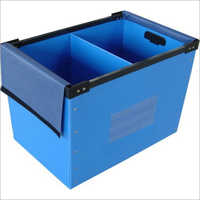 PP Blue  Corrugated Box