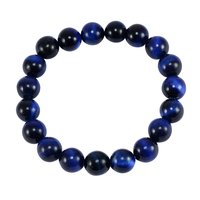 10mm Round Handmade Jewelry Manufacturer Blue Tiger Eye Stretchable Bracelet Jaipur Rajasthan India