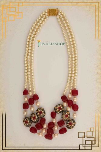 Ruby & pearl Necklace