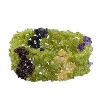 Garnet, Citrine, Amethyst, Iolite & Peridot Gemstone Stretchable Bracelet