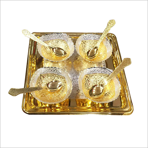 Brass Bowl Dinner Set