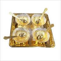 Brass Bowl Dinner Set