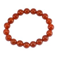 10mm Beads Handmade Jewelry Manufacturer Red Onyx Elastic Cord Stretch Reiki Bracelet Jaipur Rajasthan India