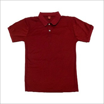 Mens Plain Polo Collar T-Shirt