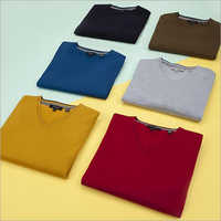 Mens V Neck Plain T-Shirt