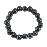 10mm Beads Handmade Jewelry Manufacturer Hematite Stretchable Layering Jaipur Rajasthan India Healing Yoga Bracelet