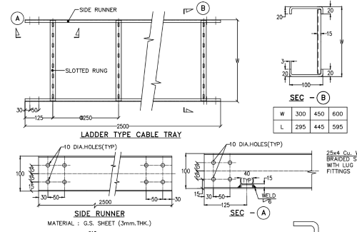 Cable Tray Layout drawing of Indoor Substation