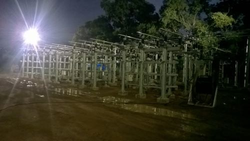 Lighting Layout of Outdoor Switchyard