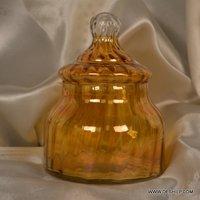 Small Matki Shape Luster Glass Jar