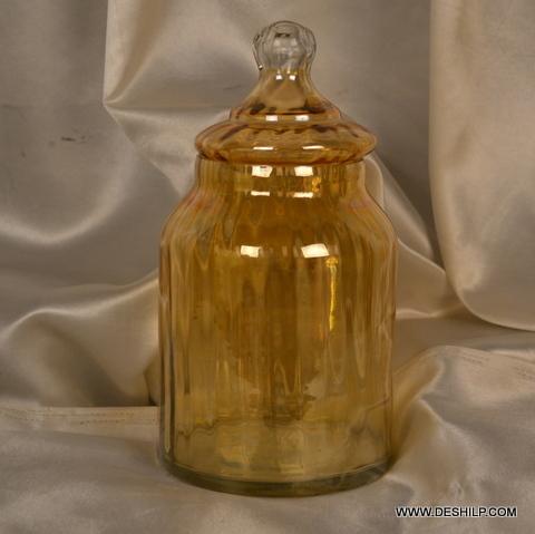 Home Purpose Luster Colorful Glass Jar