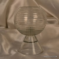 Glass Clear Antique Candle Holder