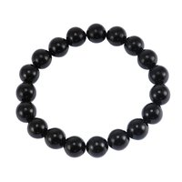 Handmade Jewelry Manufacturer 10mm- Round-Beaded- Black Onyx Stretchable Bracelet For Women Jaipur Rajasthan India
