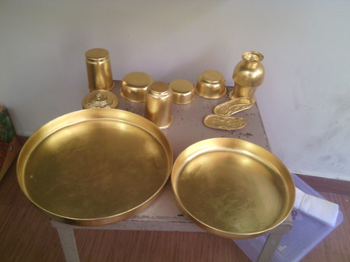 Gold plated Pooja Articles Set
