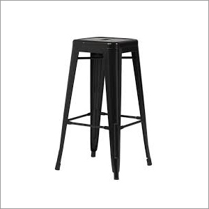 Industrial Wrought Iron Shop Stool