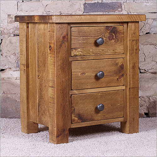 3 Drawer Wooden Bedside