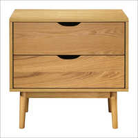 2 Drawer Wooden Bedside