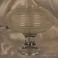 Round Glass Cutting Candle Holder
