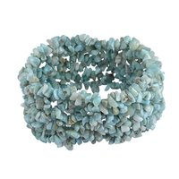 Larimar Gemstone Chips Stretchable Bracelet