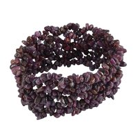 Ruby Gemstone Chips Stretchable Bracelet