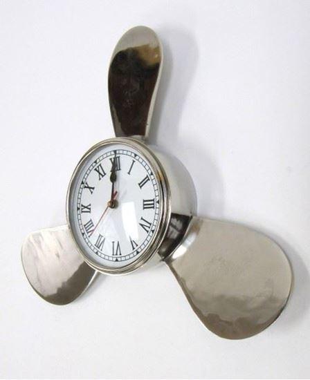 Aluminum Propeller Clock Chrome Finish