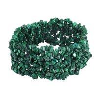 Malachite Gemstone Chips Stretchable Bracelet