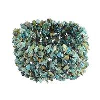 Turquoise Gemstone Chips Stretchable Bracelet