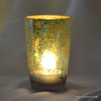 Green Color Candle Holder Tumbler Shape Tealight Holder