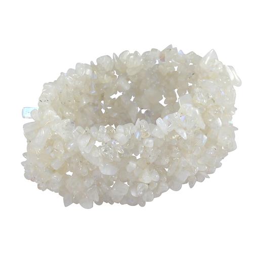 Rainbow Moonstone Gemstone Chips Stretchable Bracelet