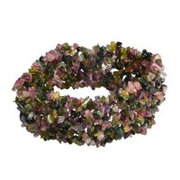 Tourmaline Gemstone Chips Stretchable Bracelet