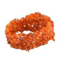 Carnelian Gemstone Chips Stretchable Bracelet