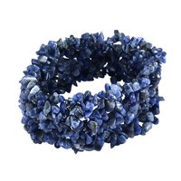 Sodalite Gemstone Chips Stretchable Bracelet