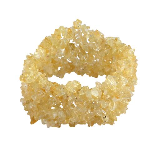 Citrine Gemstone Chips Stretchable Bracelet